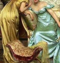 Secrets, detail, by Charles Frédéric Joseph Soulacroix (1825-1900).