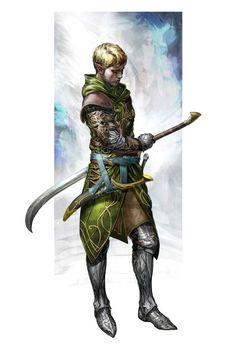 Elf Fighter Warrior Guardian - Pathfinder PFRPG DND D&D d20 fantasy