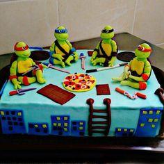 детский торт #черепашки #ниндзя