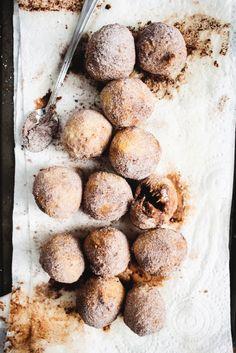 Sea Salt Caramel Truffle Brioche Doughnuts