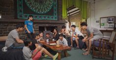 A dorm bonding session in progress! #KISDormLife
