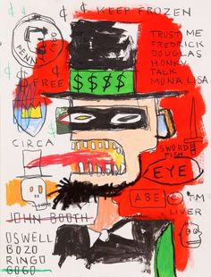 JEAN MICHEL BASQUIAT-ABE LINCOLN Jean-Michel Basquiat : American Artist ( 1960 - 1988 ) More At FOSTERGINGER @ Pinterest