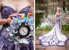 20 Unconventional Wedding Dress Ideas You Will LOVE!, Wedding Dress Ideas Are you looking for a wedding dress ideas that you can show off your unconventional style on your big day? Purple Wedding, Wedding Colors, Wedding Styles, Dream Wedding, Wedding Things, Wedding Bells, Wedding Gowns, Unconventional Wedding Dress, Steampunk Wedding