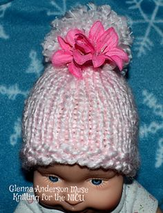 Soft and sweet, very PINK, preemie/newborn hat for the perfect little princess. Quick knit in #6 super bulky yarn great for newborns as wells as preemies who need a little help maintaining their own body temperature.