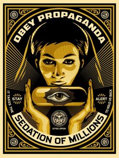 Available for sale from Pace Prints, Shepard Fairey, Sedation Pill Silkscreen and mixed media collage on paper, HPM, 40 × 30 in Shepard Fairey Posters, Shepard Fairey Obey, Art Obey, Shepard Fairy, Illustration Photo, Propaganda Art, Plakat Design, Political Art, Political Posters