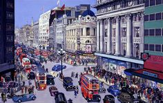 West End London street scene, by Grace Golden