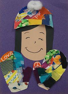 Art. Paper. Scissors. Glue!: Winter Fabric Collage