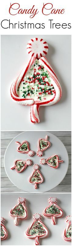 Candy Cane Christmas Trees with white chocolate from Princess Pinky Girl