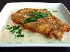 Chicken Milanese with Sage-and-Lemon-Butter Sauce.  Maybe the best chicken I've ever had.
