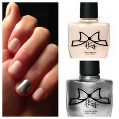 Absolutely love this color combination! AKayStyle Nail Lacquer in Waif with an accent nail in Pretty in Punk!