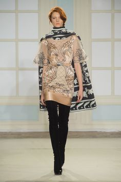 """Temperley's Sexy New Look is More Than Just Fashion Folklore: Alice Temperley hailed """"the start of a new and exciting era"""" at London Fashion Week today, leading the Temperley girl down a sexier path for Fall 2014."""