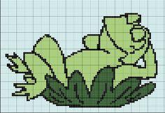 Frog x-stitch