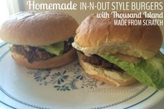 Homemade In N Out Style Burgers
