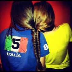 Haha! Only the best of friends can have their heads braided together and still stand eachother at the end of the day!