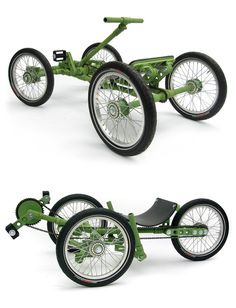 By Andrew Liszewski My continued love of LEGO has me desperately hoping this Construction Toy . Read more Construction Toy Concept Lets You Build Bikes And Go-Karts Microcar, Cool Bicycles, Cool Bikes, Recumbent Bicycle, Custom Trikes, Karts, Push Bikes, Cargo Bike, Pedal Cars
