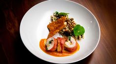 Apricot Chicken Roulade with Cous Cous - Brett Carter (Contestant)