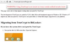 Encryption Tool TrueCrypt Shuts Down Mysteriously, Encouraging to Use Bitlocker http://thehackernews.com/2014/05/encryption-tool-truecrypt-shuts-down.html #Security