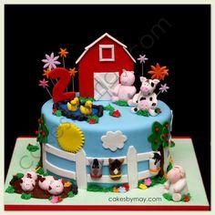Cakes by Maylene: Fun and Whimsical Barnyard Birthday Cake