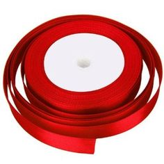 25 METRES X 10MM OF SATIN RIBBON FOR WEDDING FAVOUR / CRAFT / GIFT WRAP/ CHRISTMAS (RED): Amazon.co.uk: Toys & Games