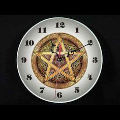 For Sale: Pagan Pentagram Pentacle Wall Clock New Cool Fashion NR Clock