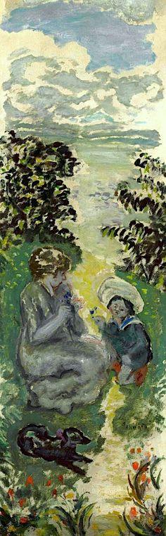 """Pierre Bonnard (1867-1947): """"Mère et enfant""""."""