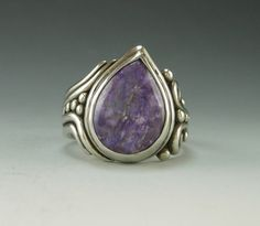 Sterling Silver Charoite Ring