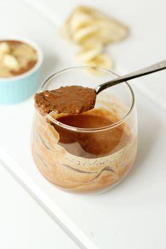 Chocolate Almond Butter Banana Chia Pudding
