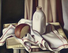 Tamara de Lempicka >> Nature morte à la bouteille de lait // Finally, a Lempicka that isn't a chiselled-looking 1920s woman.