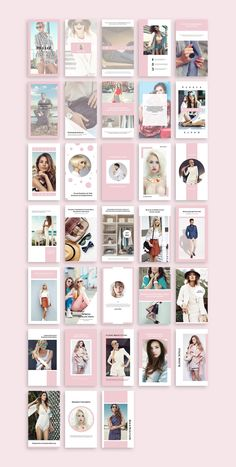 Gaia Instagram Stories by SlideStation on @creativemarket #fashion #lifestyle @instagram #blog #design #photoshop #template #psd #feminine #ladyboss #girlboss