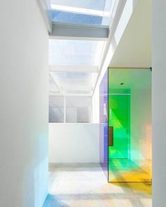 The rainbow-bright colors of an office by @NBDC.official at Mellower Bakery in Seouls Seongsu neighborhood hint at the buildings past as a dye factory.: In-Woo Yeo. @sandow - Architecture and Home Decor - Bedroom - Bathroom - Kitchen And Living Room Interior Design Decorating Ideas - #architecture #design #interiordesign #homedesign #architect #architectural #homedecor #realestate #contemporaryart #inspiration #creative #decor #decoration
