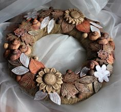 Procházka zahradou 1. Ceramic Wall Art, Air Dry Clay, Windmill, Wreaths, Ceramics, Flowers, Crafts, Decor, Tag Watches