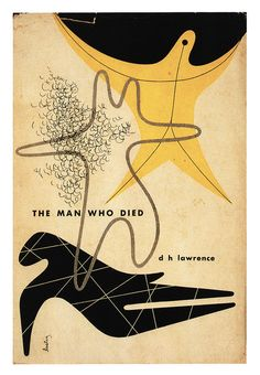 The Man Who Died by D.H Lawrence.  Dust jacket design by Alvin Lustig.