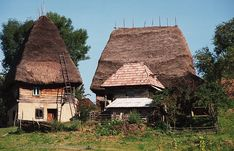 Gospodarie traditionala din Apuseni Vernacular Architecture, Architecture Design, Travel Specials, Bucharest Romania, Little Houses, Planet Earth, Traditional House, Old Houses, Countryside