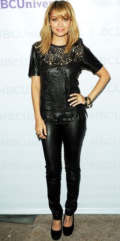 Best of 2012: Leather -- What better way to wear leather than head-to-toe, like Nicole Richie?