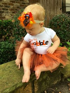 awesome Thanksgiving outfit Baby girl thanksgiving by Baby Girl Thanksgiving Outfit, Baby Girl Fall, First Thanksgiving, Fall Tutu, Twin Girls, Girl Falling, Fall Outfits, Flower Girl Dresses, Kids
