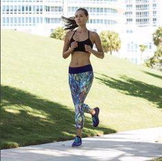 April Wilkner wearing PRISMSPORT Capri Pants #liveinprism #healthy #fitspo