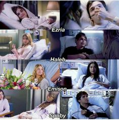 Couples in the hospital - Yıldız Fırsat Pretty Little Liars Series, Pretty Little Liars Spencer, Preety Little Liars, Pretty Little Liars Quotes, Spencer Y Toby, Luci Hale, Pll Memes, Best Shows Ever, Tv Shows