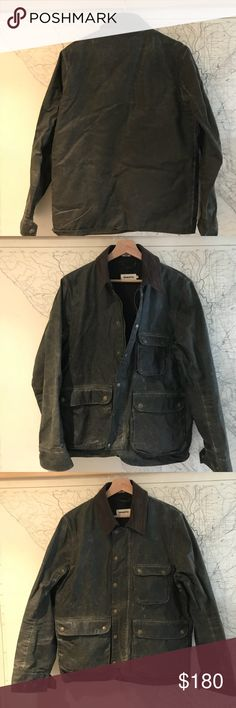"Taylor Stitch ""Rover"" jacket. Great shape. Just re-waxed. No damage.  https://www.taylorstitch.com/collections/mens-outerwear/products/the-rover-jacket-in-dark-olive-waxed-cotton Taylor Stitch Jackets & Coats Utility Jackets"