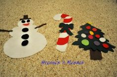 Shapes cut out of felt to mix and match. Great neighbor gift!