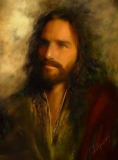 digital painting using an image of Jim Caviezel as reference. Pictures Of Jesus Christ, Jesus Christ Images, Christian Images, Christian Art, Religious Paintings, Religious Art, Jesus Painting, Jesus Face, Prophetic Art