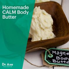 Homemade CALM Body Butter,Conventional body butters can be full of synthetic fragrances and harmful chemicals. Instead, try this homemade calming magnesium body butter recipe. Calm Magnesium, Magnesium Oil, Homemade Body Butter, Whipped Body Butter, Be Natural, Natural Beauty, Homemade Beauty Products, Beauty Recipe, Natural Medicine