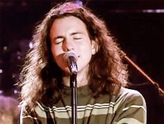 Young Eddie. ..sigh At Rock and Roll Hall of Fame induction ceremony with The Doors, 1993