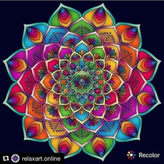 """124 Likes, 4 Comments - Adult Coloring Books & Stuff (@coloringtoolkit) on Instagram: """"#Repost @relaxart.online with @repostapp ・・・ CONGRATULATIONS! Today's next FEATURED COLORIST:…"""""""
