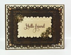 Hello Friend Card with Enhancing Elements from Spellbinders�