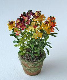 Artisans in Miniature: Plants and flowers  wallflowers / BEAUTIFUL!