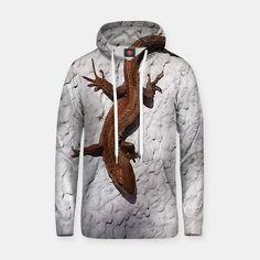 lizard 157 Bawełniana bluza z kapturem