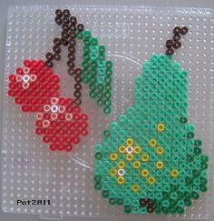 Cherry pear  hama beads by Les loisirs de Pat