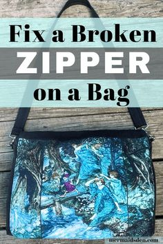 Sewing Techniques Advanced Everyday Mending: Fix a Broken Zipper in a Bag. Make your bag last longer. Diy Sewing Projects, Sewing Projects For Beginners, Sewing Hacks, Sewing Tutorials, Sewing Tips, Sewing Ideas, Quilt Tutorials, Sewing Crafts, Diy Crafts