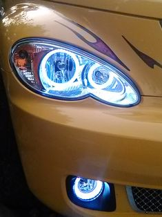 Mike Herron's 2006 PT Cruiser Route 66 Edition, Custom HALO Creations headlight and fog light set installation Pt Cruiser Accessories, Bmw X5 E53, Chrysler Pt Cruiser, Route 66, Halo, Trucks, Bike, Awesome, Shopping