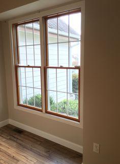 Wood Windows White Trim Shaw Laminate Floor In Lumberjack Hickory